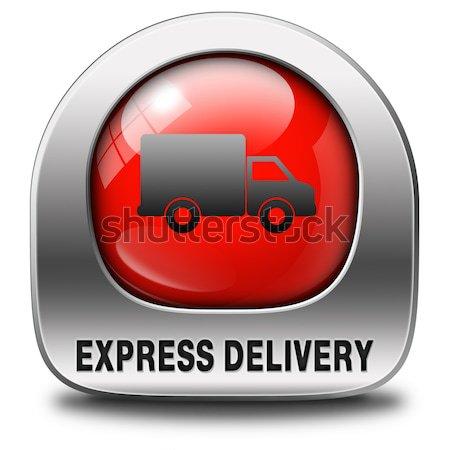 Corriere espresso speciale consegna spedizione web shop Foto d'archivio © kikkerdirk