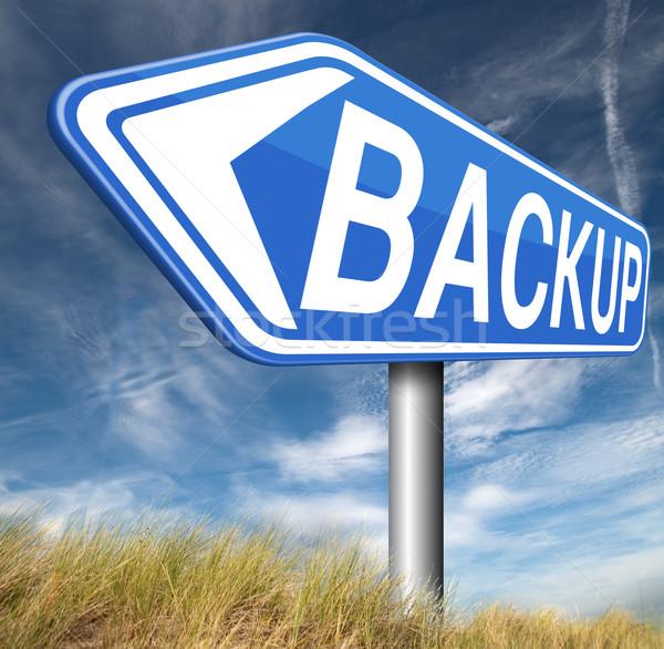 Sauvegarde données logiciels copier nuage disque Photo stock © kikkerdirk