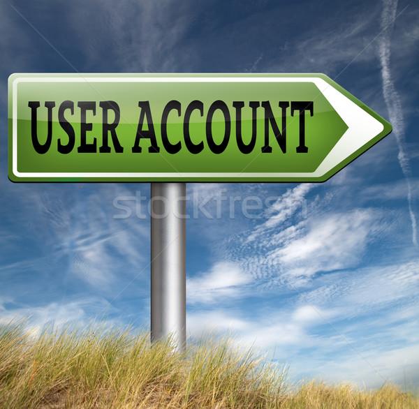 Usuario cuenta abierto afiliación Foto stock © kikkerdirk