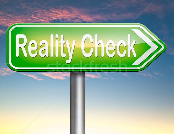 Realtà verificare up effettivo vita eventi Foto d'archivio © kikkerdirk