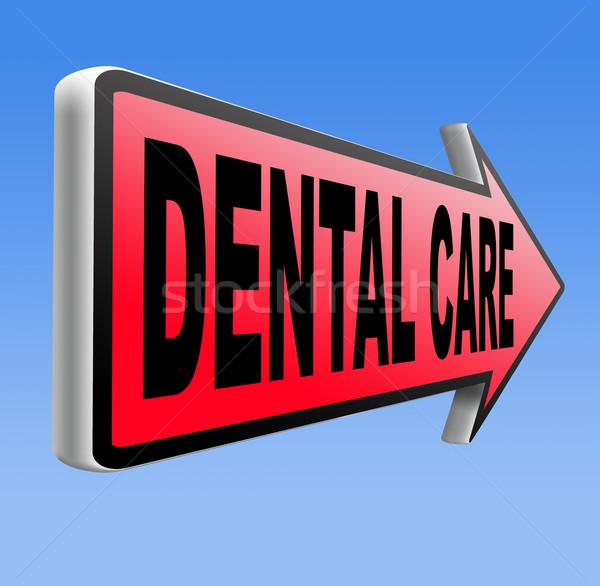 Zahnpflege Zentrum mündliche Hygiene Chirurgie Krankenversicherung Stock foto © kikkerdirk