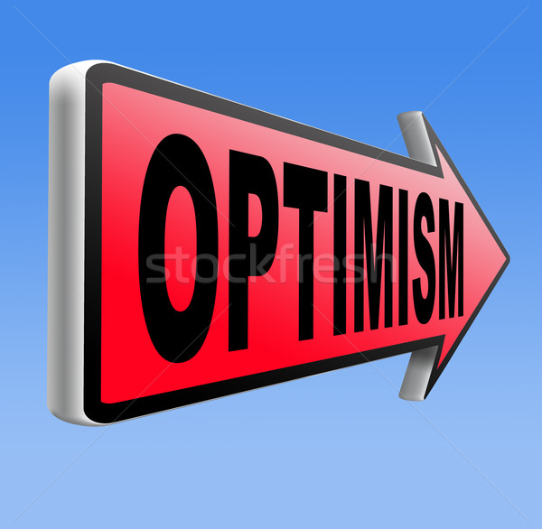 楽観 と思います ポジティブ 陽性 態度 ストックフォト © kikkerdirk