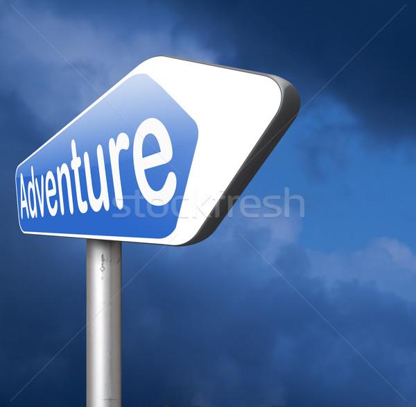 Avontuur natuur reizen wereld avontuurlijk Stockfoto © kikkerdirk