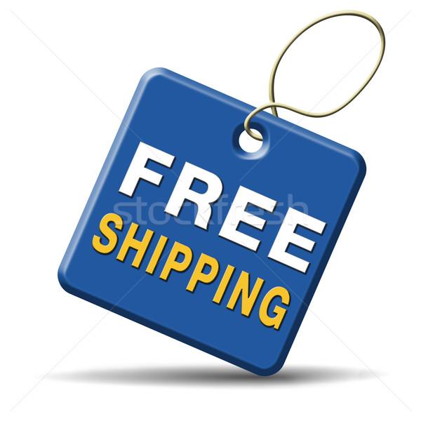 Gratis verzending pakket scheepvaart internet web Stockfoto © kikkerdirk