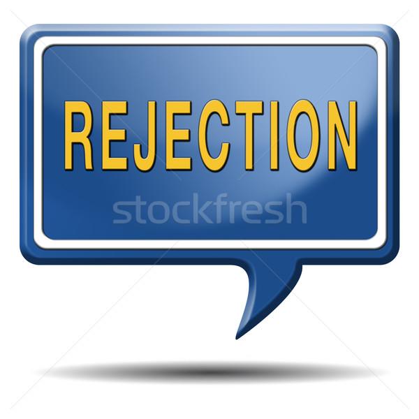 Rejeição carta trabalho medo visa real Foto stock © kikkerdirk