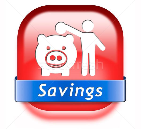 экономия деньги Piggy Bank депозит счет Сток-фото © kikkerdirk