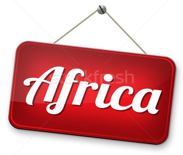 Африка знак континент туризма отпуск Сток-фото © kikkerdirk