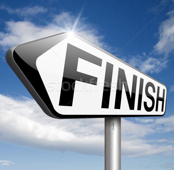 Bitirmek son rekabet çıkmak dışarı Stok fotoğraf © kikkerdirk
