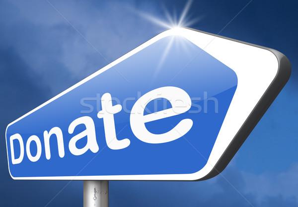Adományoz jótékonyság ad segítség alap pénz Stock fotó © kikkerdirk