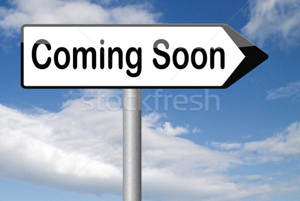 Hamarosan jön márka új termék közzététel következő Stock fotó © kikkerdirk