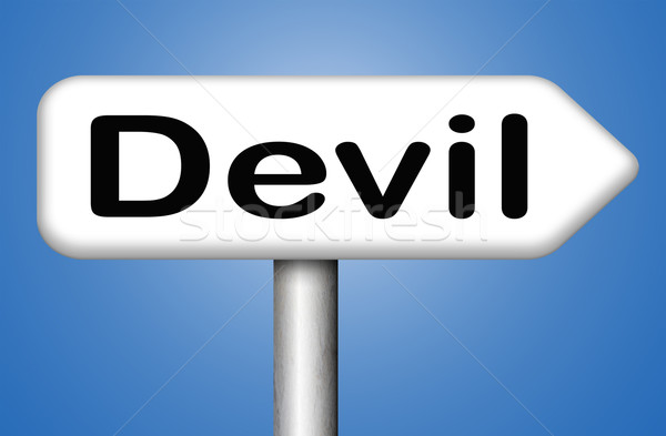 Diabo tentação lol satã inferno Foto stock © kikkerdirk