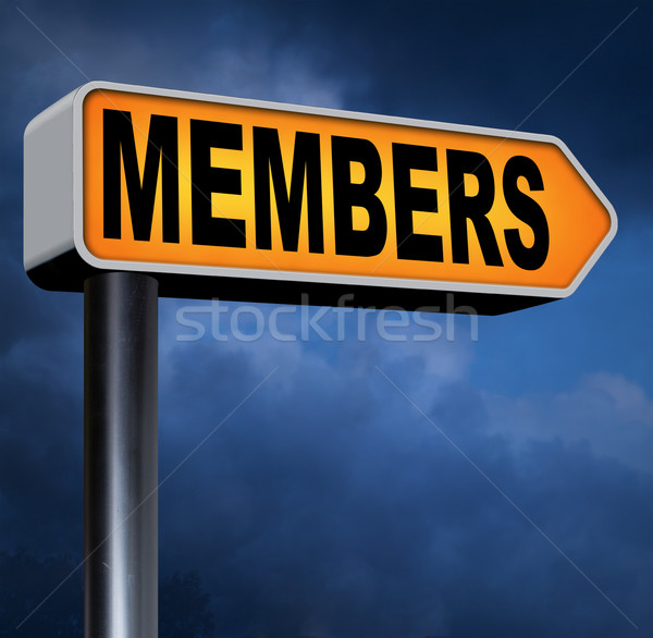 members only Stock photo © kikkerdirk