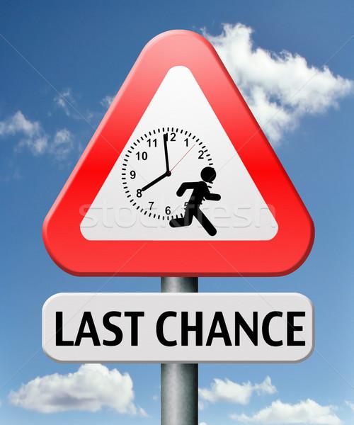 Utolsó esély alkalom tett most soha Stock fotó © kikkerdirk