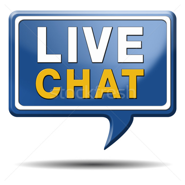 live chat icon Stock photo © kikkerdirk