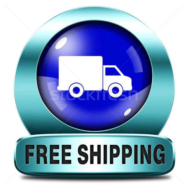 Stockfoto: Gratis · verzending · pakketdienst · online · internet · web · winkel