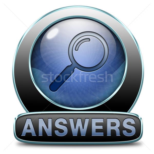 Válaszok keresés válasz kérdések megold problémák Stock fotó © kikkerdirk