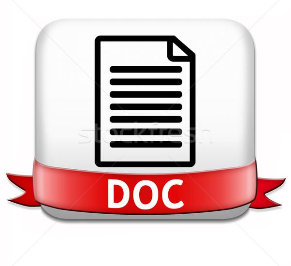 Documento doctor botón pdf archivo descargar Foto stock © kikkerdirk
