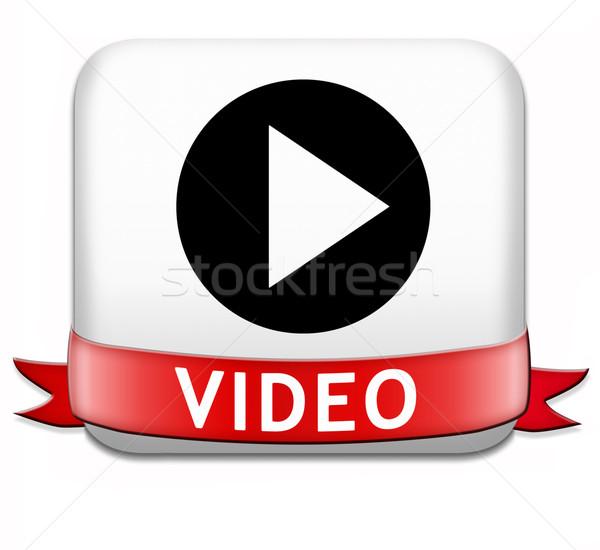 play video button Stock photo © kikkerdirk