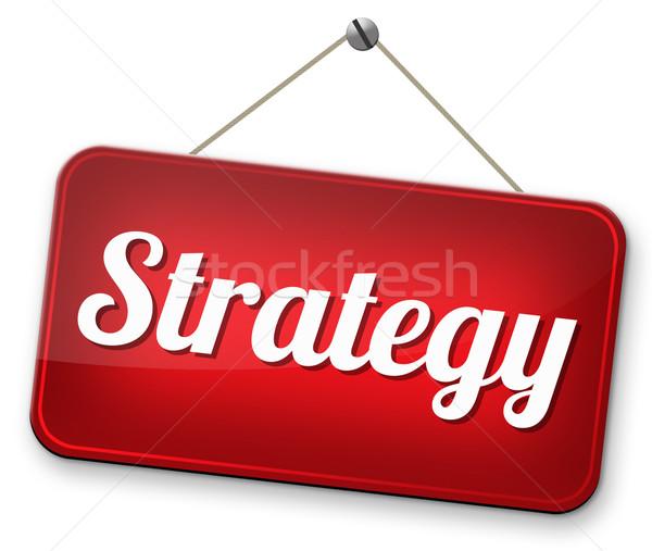 Estratégia negócio marketing usado método plano Foto stock © kikkerdirk