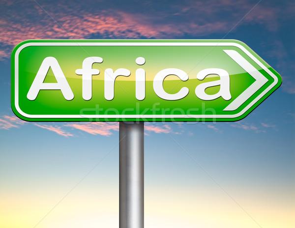 Afrika imzalamak kıta turizm tatil Stok fotoğraf © kikkerdirk