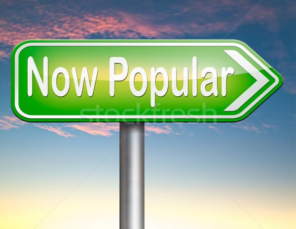 Populair nu laatste mode trend teken Stockfoto © kikkerdirk