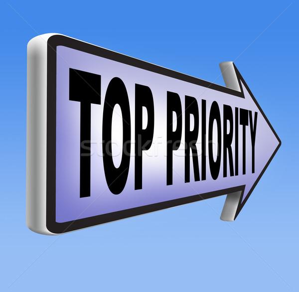 Top priorità importante alto urgenza info Foto d'archivio © kikkerdirk