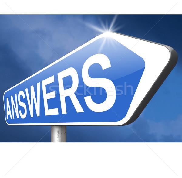 search answer Stock photo © kikkerdirk