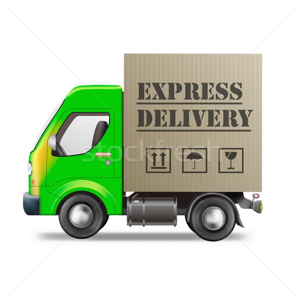 express delivery truck Stock photo © kikkerdirk