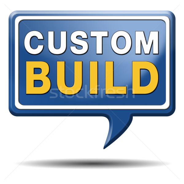 custom build label Stock photo © kikkerdirk