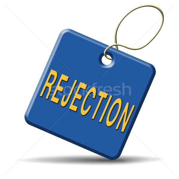 Zdjęcia stock: Odrzucenie · list · pracy · strach · wizy · real