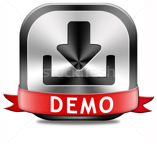 Demo download button Stock photo © kikkerdirk