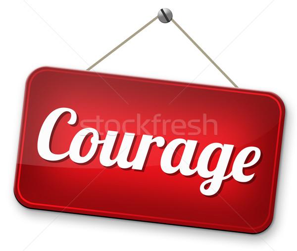 Cesaret korkusuz yetenek korku ağrı tehlike Stok fotoğraf © kikkerdirk