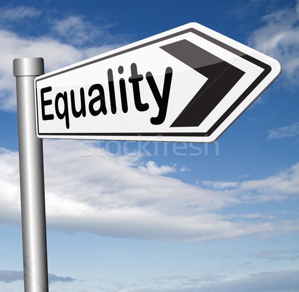 Gelijkheid alle solidariteit gelijk rechten Stockfoto © kikkerdirk
