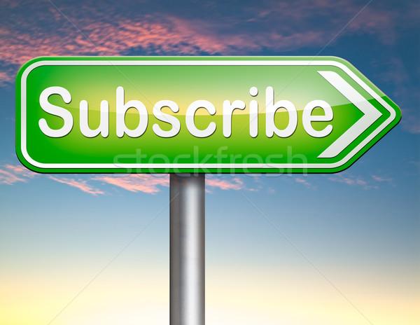 Hier online gratis abonnement lidmaatschap nieuwsbrief Stockfoto © kikkerdirk