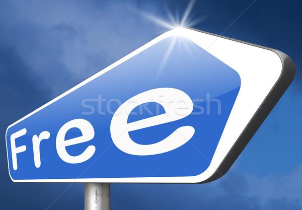 свободный нет бесплатно продукт образец Сток-фото © kikkerdirk