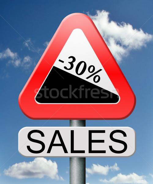 Eladó 30 el vásár tél nyár Stock fotó © kikkerdirk