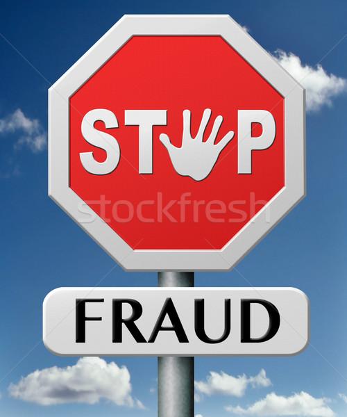 stop fraud Stock photo © kikkerdirk