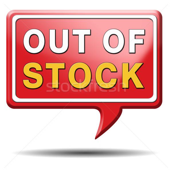 out of stock Stock photo © kikkerdirk
