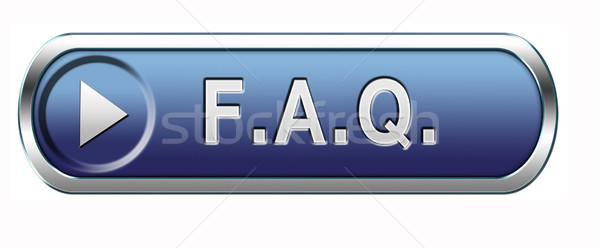 Faq icona domande risposte ricerca Foto d'archivio © kikkerdirk