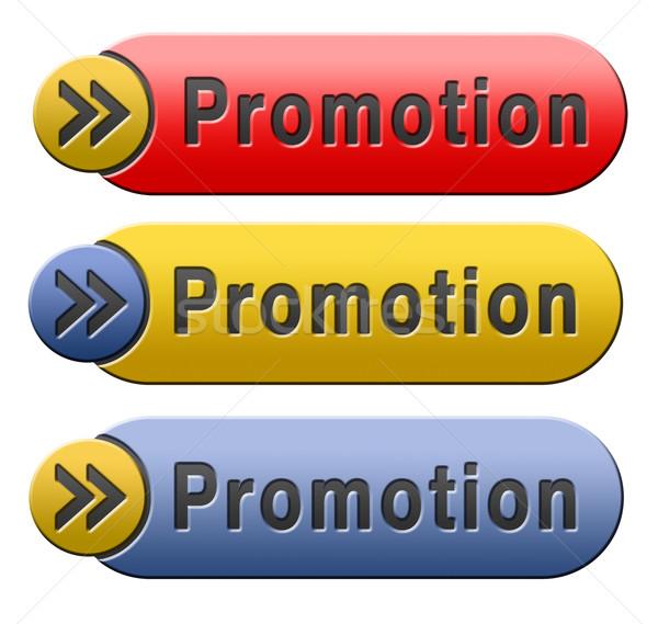 Promoción botón promoción icono dinero signo Foto stock © kikkerdirk