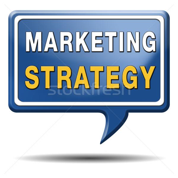 Estratégia de marketing alvo negócio mercado plano chave Foto stock © kikkerdirk