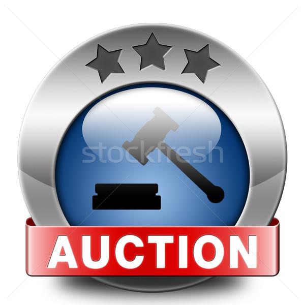 árverés felirat online vásár vásárol ingatlan Stock fotó © kikkerdirk