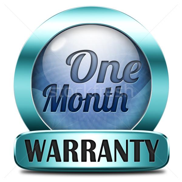 Egy hónap garancia 1 hónapos felső minőség Stock fotó © kikkerdirk