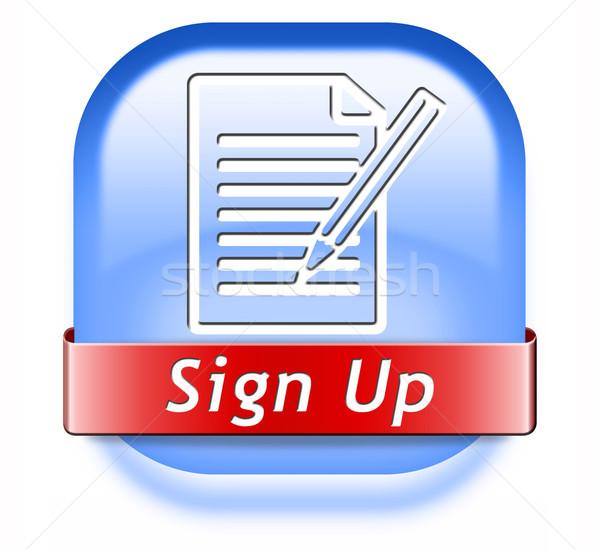 sign up now Stock photo © kikkerdirk