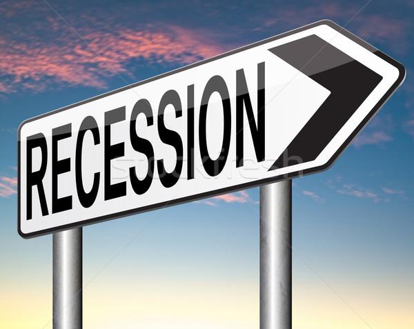 Recessione banca crisi economia stock crash Foto d'archivio © kikkerdirk