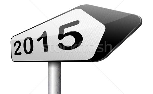 2015 Новый год следующий год новых начала Сток-фото © kikkerdirk