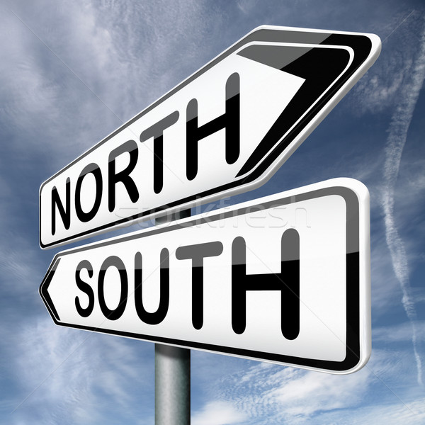 north or south Stock photo © kikkerdirk