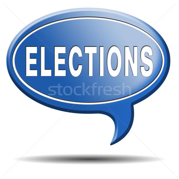 Verkiezingen gratis verkiezing nieuwe democratie lokaal Stockfoto © kikkerdirk