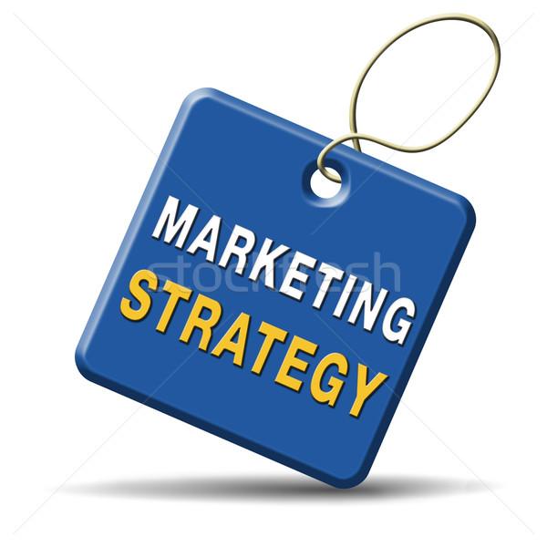 Strategia marketingowa cel działalności rynku plan kluczowych Zdjęcia stock © kikkerdirk