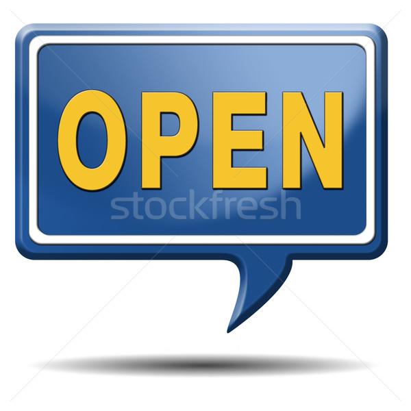 opening hours Stock photo © kikkerdirk